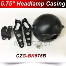 "CZG-BK575B 5.75"" round casing with brackets for 5.75"" round headlight black color 5.75 inch round shell for 5.75 inch round lamp"