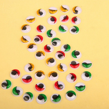New 20Pcs 20MM Glass Dolls Eye DIY Craft Eyes for Toy Dinosaur Animal Eye Time Gem Accessories No Self-adhesive Wholesale(China)