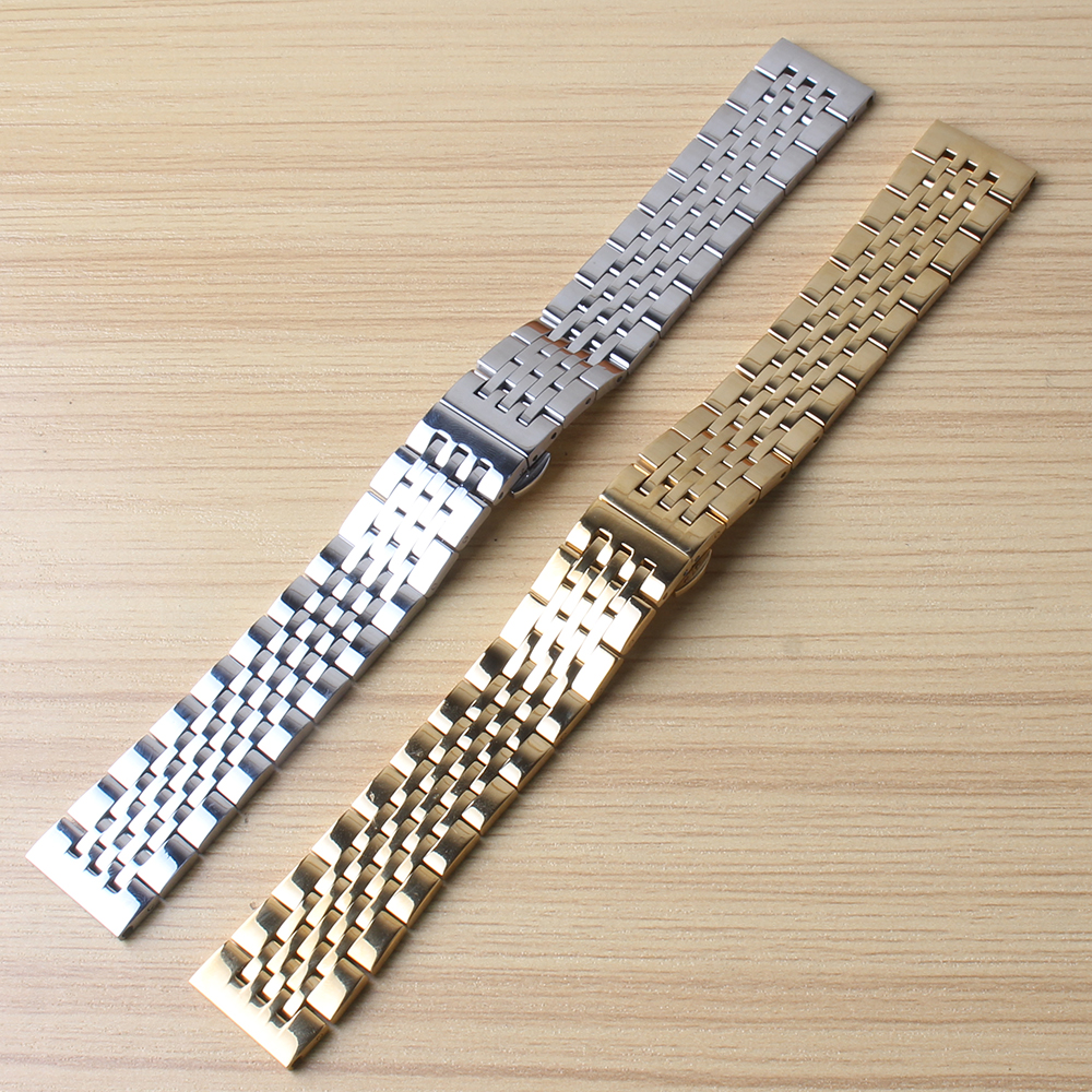 New arrival 2017 18mm 19mm 20mm 21mm Watchband Mens Women High Quality Stainless Steel Band Silver gold Watches Bracelet Straps<br>