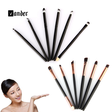 6 Pcs/set Professional Makeup Brushes Set Make Up Wood Tools Cosmetics Foundation Face Eyeshadows Brush Kit pincel maquiagem