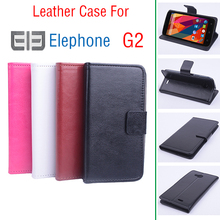 Free Shipping For Elephone G2 Case cover, Good Quality Leather Case+ Hard Back Cover For Elephone G2 Cellphone 4 Color In Stock