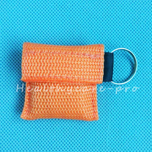 10 PCS /lot CPR MASK WITH KEYCHAIN CPR FACE SHIELD For Cpr/AED ORANGE COLOR NEW