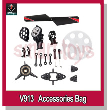 V913 RC Helicopter Accessories Bag for WLtoys V913 RC Helicopter Spare Parts(China)