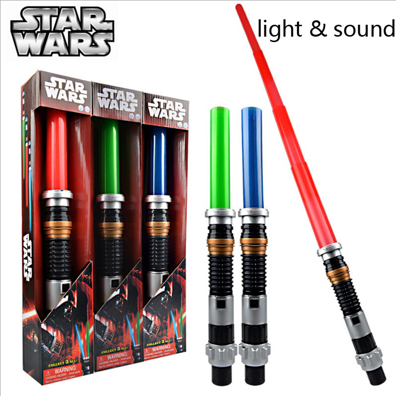 Kids Toys Action Figure Weapons Star Wars Lightsaber with Light Sound Led Blue Saber Darth Vader Jedi Star Wars laser Sword Toy(China (Mainland))