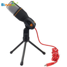 Hot-sale BINMER Black High Quality Handheld Microphone Sound Studio Microphone Mic For Computer Chat PC Laptop Skype MSN Gifts