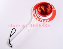 LED handheld stop plate traffic baton traffic safety warning light stop sign indicator light