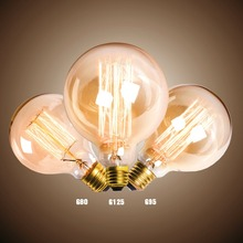 40W 60W G125 Vintage Style Edison Light Bulb E27 110V 220V  Lamp incandescent bulb Creative antique Edison bulb