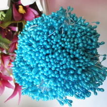 Sale 150PCS Artificial Flower Double Heads Stamen Pearlized Craft Cards Cakes Decor Floral for home wedding party decor(China)