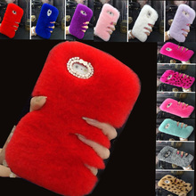 New Warm Fluffy Villi Fur Plush Wool Bling Case Cover For Samsung Galaxy star advance/G350E Coque Fundas Carcasas Capa Skin+Gift