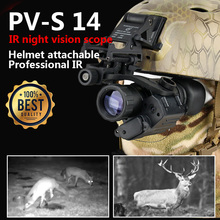 Free Shipping PVS-14 Style Digital IR Helmet Attachable Night Vision For Hunting OS27-0008(China)