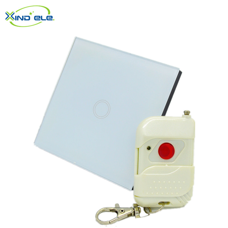 XIND ELE 2017 new 1 Gang remote control wall switch rf433 touch light switch for home #XDTH01W+WR1#<br><br>Aliexpress