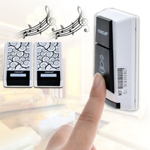 Forecum Portable Wireless Door Bell kit 2 Plug-in Door Chime and Push Button for Home Office