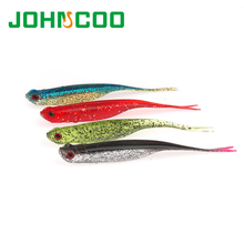 New 5pcs 10.5cm 5g Fishing Lure Artificial Soft Bait Fish 3D Eyes Soft Silicone Worm Plastic Lure Bass Lure Carp Fishing(China)