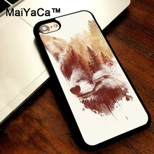 MaiYaCa Blind Fox Style Fashion Mobile Phone Case For iPhone 5 5s SE Slim Back Cover Soft TPU Cases For iPhone SE(China)