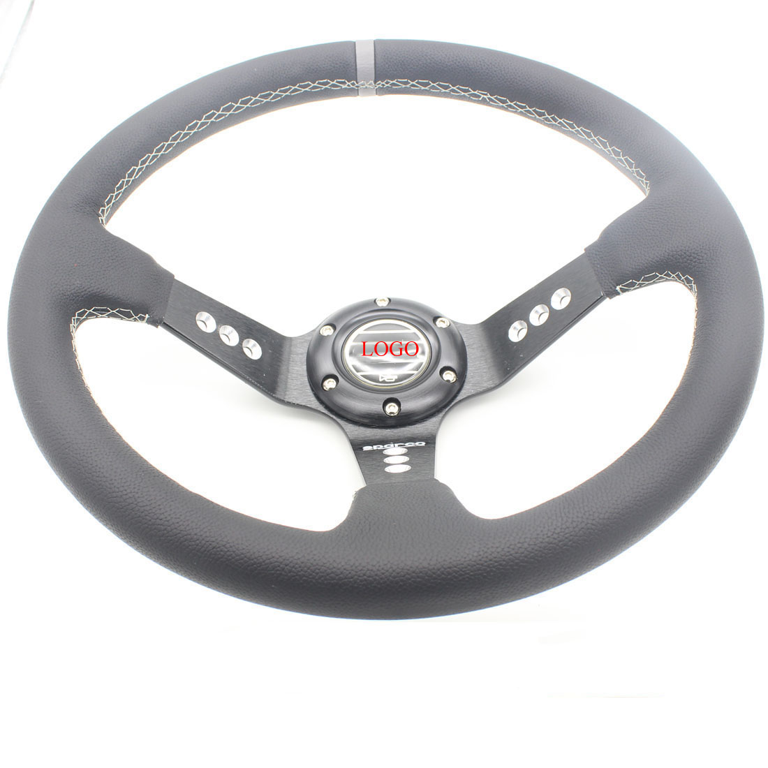 Dongzhen 14 355MM Auto Car Leather Deep Cone Steering Wheel Racing Sport Drift Handle Steering Wheel Accessories Car Styling<br><br>Aliexpress