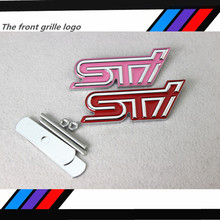 3D Car Styling Metal STI Logo Emblem Grille Badge Trunk Sticker Decal For Subaru Impreza WRX Rally Legacy Forester WRC Outback(China)