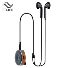 TTLIFE Bluetooth Earphone V4.1 Wireless Business Stereo Sport headphones with Mic Noise Cancelling With metal Bluetooth receiver(China)