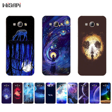 for Samsung Galaxy A7 2015 TPU Phone Case for A3 A5 A8 2015 Shell Transparent for A300 A500 A700 A800 Cover Fatasty Sky Pattern(China)