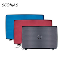 SCOMAS Laptop A Case Base Back Cover for DELL Inspiron 17R N7010 YVTPC K74HC Black Blue Red A Cover with Cable LCD Hinges