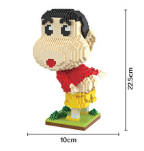 Bevle HC 9023 1685Pcs Crayon Shin Chan Cartoon DIY Magic Blocks Diamond Building Block Toys Compatible with LEPIN
