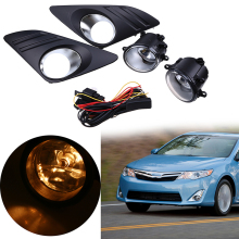 Front Fog Lights Bumper Halogen Lamps Kit For Toyota Camry (XV50)LE/XLE 2012-2014 External Fog Lamp Assembly