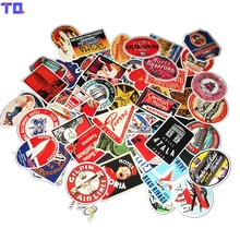 55Pcs/Lot Styling Pvc Waterproof Rimowa Vintage Stickers For Laptop Motorcycle Skateboard Luggage Decal Toy Sticker(China)