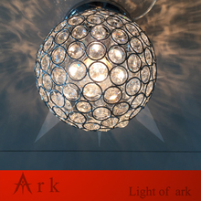 meetinglight luxurious modern fashion Romantic dia 15cm led crystal ball ceiling light fixture for hall