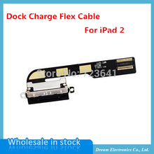 5pcs/lot NEW Dock Connector Charger Charging Port Flex Cable Ribbon For iPad 2 2Gen Replacement Part Free shipping