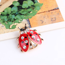 Korean Version Of The Fashionable Seven-star Ladybug Brooch Lady Beautiful And Lovely Insect Jewelry Jeans Wholesale(China)
