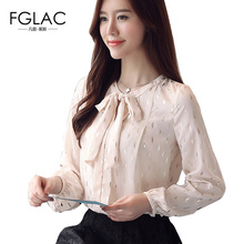 Buy FGLAC Women shirts New Arrivals 2018 Spring long sleeved chiffon blouse Elegant Slim Beading shirt plus size women clothing for $13.01 in AliExpress store