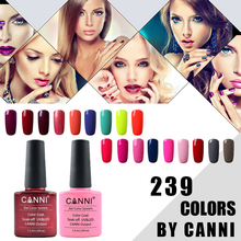 CANNI UV Nail Polish 121-144  Shiny UV Gel Nail Polish Varnish LED Soak Off Glue Nail Art UV Gelpolish 238Colors CN03