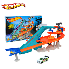 Original Mattel Brand Hot Wheels Sport Track Cars Toy Utility Vehicle Multi-Funct Track Suit brinquedo Educativo Car Track BGJ18(China)