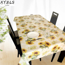 XYZLS PVC tablecloth sunflower non wash waterproof oil proof table cloth coffee tablecloths insulated plastic pad home decor(China)