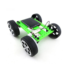 DIY Car Kit Accessories Solar Car Toys Mini Solar Powered Toy Children Educational Gadget Hobby Funny Kids Gift(China)