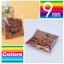 Hamtoys 10000 PCS 9mm 5 Colors Soft Crystal Bullet Water Gun Paintball Bullet Gun Toy Bibulous Air Accessories Water Ball Beads(China)