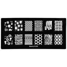 Rectangle Nail Stamping Template Cross Plum Flower Pattern 12*6cm DIY Polish Print Nail Art Stamp Plate Manicure Tool A-028(China)