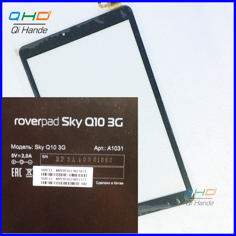 Free shipping 10.1 inch touch screen,100% New Black for roverpad sky q10 3g a1031 touch panel Tablet PC touch panel digitizer<br><br>Aliexpress