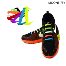 12PCS /pack Shoelaces Unisex Elastic Silicone Shoe Laces For Men Women All Sneakers Fit Strap Sport canvas PU Shoes Accessaries