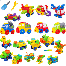 Educational Toys For Children Baby Boys DIY Disassembly Assembly Classic Car Toy Trucks Airplane Motorcycle Nut Toy Pop Gift(China)