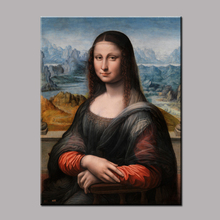 1 Piece Unframed Famous Artists Paintings Mona Lisa Portrait Canvas Painting For Home Art Wall Decoration Art Picture LZ007
