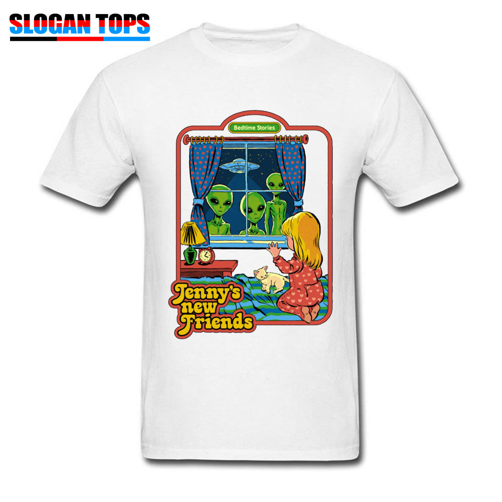 Jennys-New-Friends 100% Cotton Funny T Shirt Rife Short Sleeve Mens Tshirts Casual NEW YEAR DAY T-shirts Crew Neck Jennys-New-Friends white