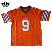 MM MASMIG The Waterboy Bobby Boucher 9 American Football Jersey Orange