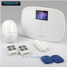 HOMSECUR IOS/Android LCD Wireless&wired GSM SMS RFID Autodial Home Security Alarm System