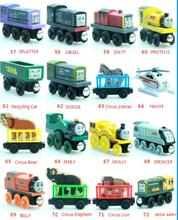 Thomas & His Friends-New Wooden Trains Anime Model Manetic Train Toys for Children Kids Gifts Salty Molly Spencer Harold Diesel(China)