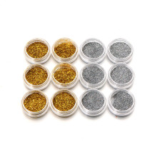 Nail Art Glitter Powder Dust Acrylic UV Gel Glitter Gold Silver Shimmer Shine Craft Glitter Decoration(China)