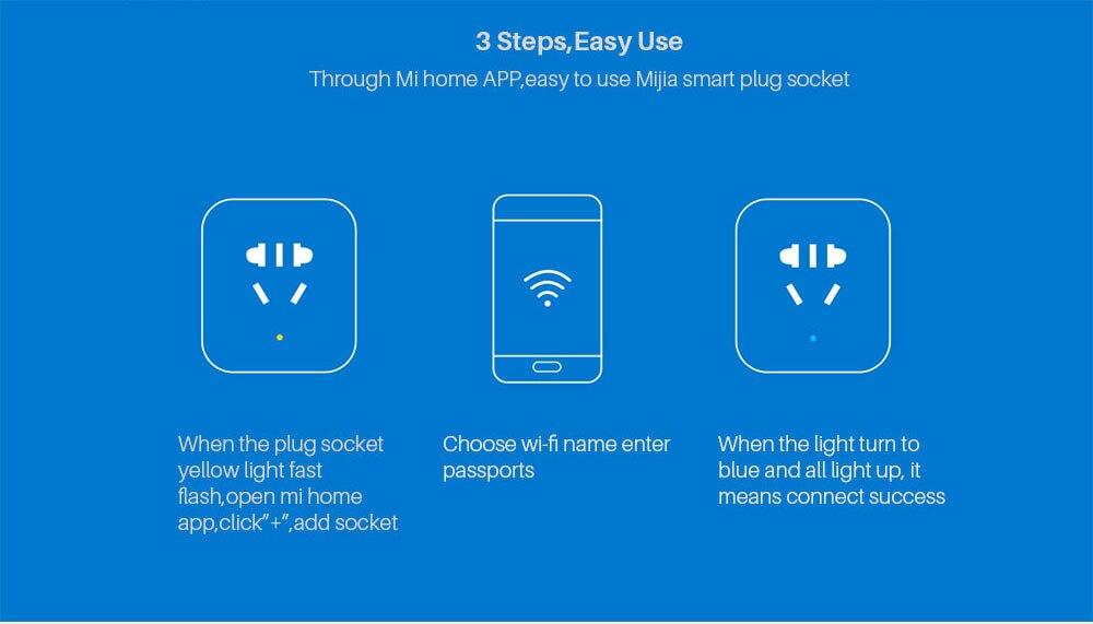 Xiaomi Mijia Smart wifi Socket Plug Enhanced Dual USB Fast Charger Timer Setting Electricity statistics Wireless APP Control (9)