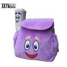 Purple Dora Explorer Backpack Rescue Bag with Map,Pre-Kindergarten Toys Kid Gift Child Gift(China)