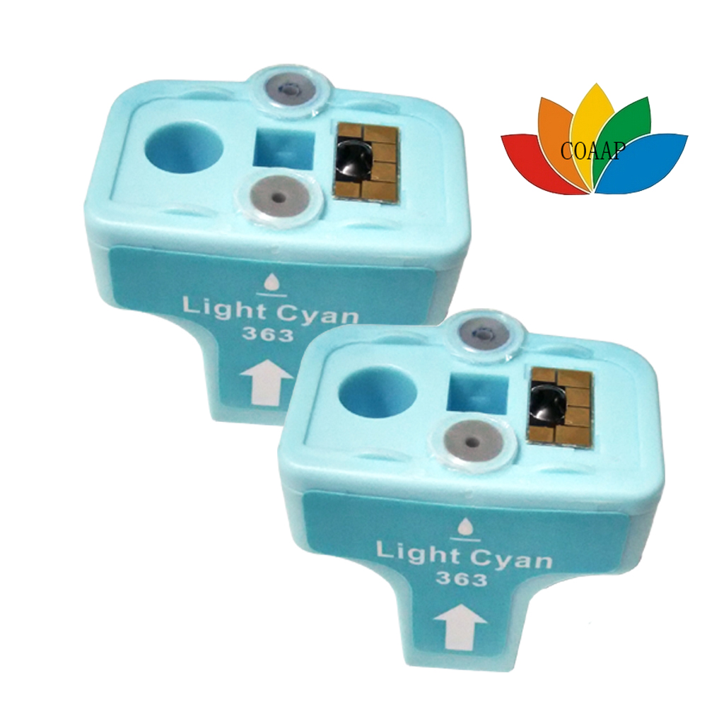 2PK Compatible HP 363 Light Cyan - C8774EE hp363 High Capacity Cyan Ink Cartridge <br><br>Aliexpress