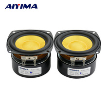 AIYIMA 2Pcs Full Range Speaker Midrange Bass Audio Stereo Woofer Loudspeaker 4ohm 25W 3 inch Home Theater DIY HIFI Speakers