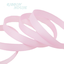 "(10 meters/lot) 3/8"" 10mm Pink Grosgrain Ribbon Wholesale gift wrap decoration ribbons(China)"